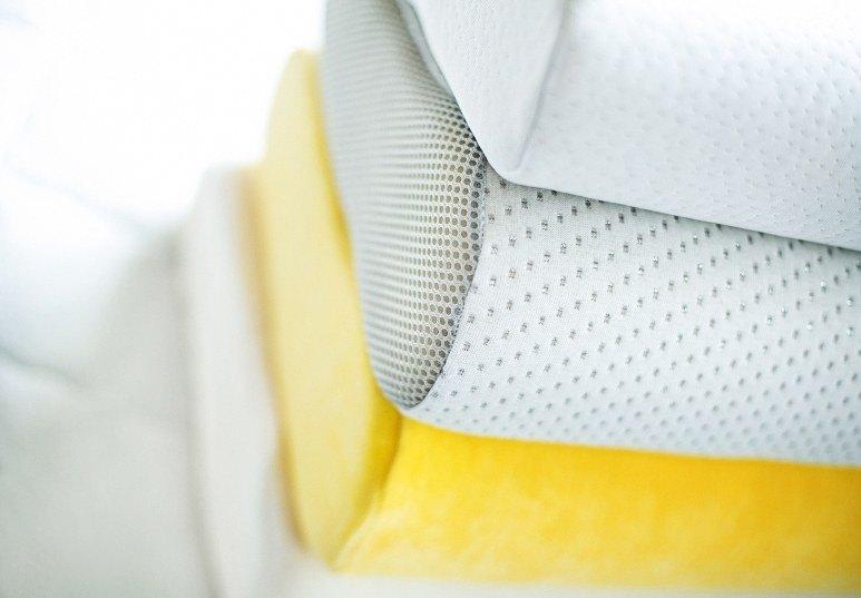 Stack of foam sofa bed mattresses