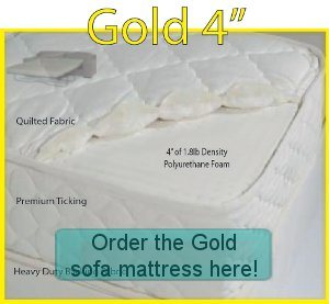 Order the Gold sofa bed mattress here