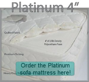 Order the Platinum sofa bed mattress here