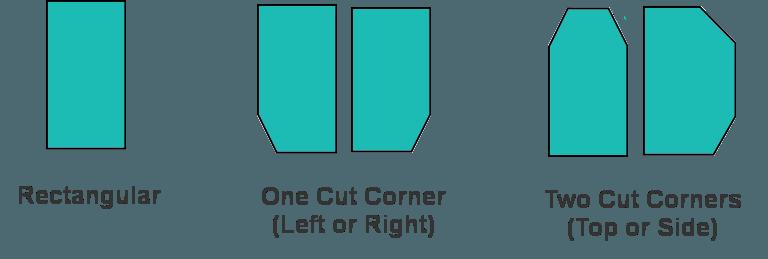 Easily order online rectangular, one cut corner and two symmetrical cut corner boat mattresses