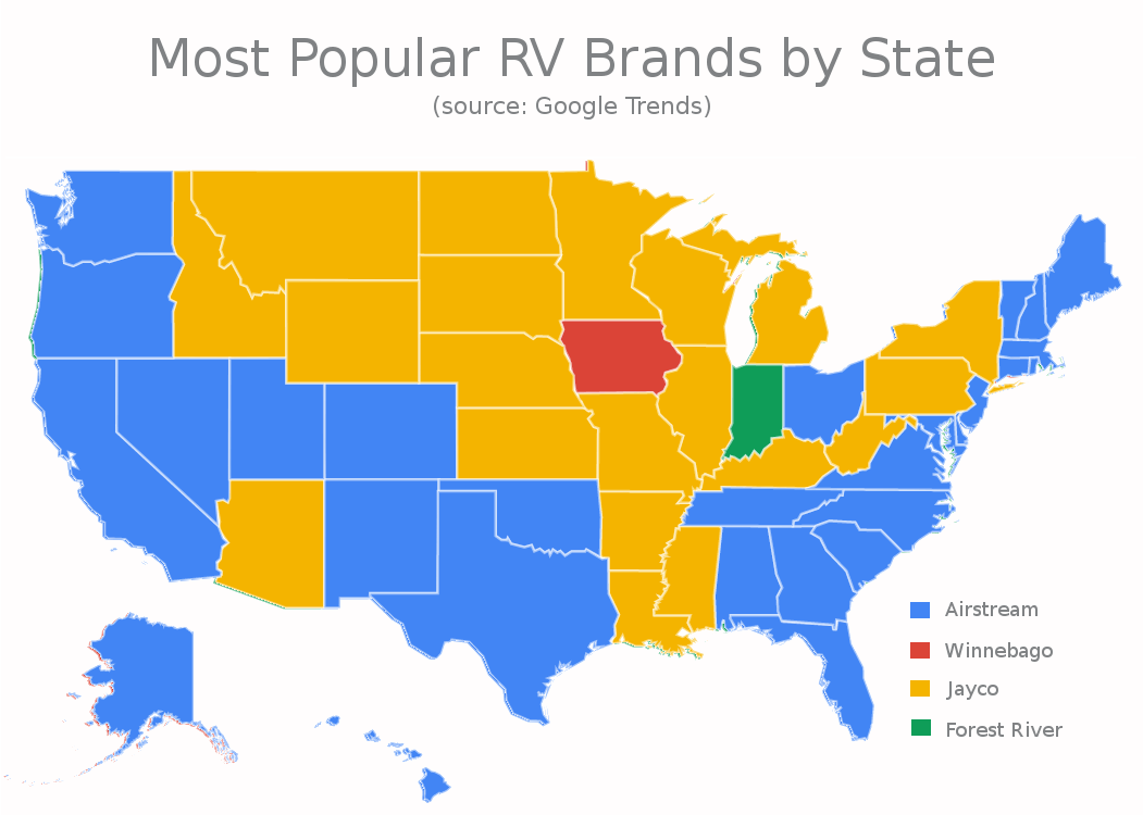 Top RV brand per state