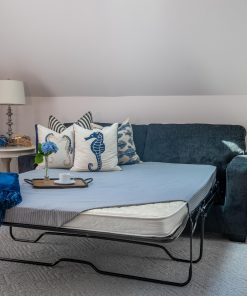 sofa bed mattress with blue cover