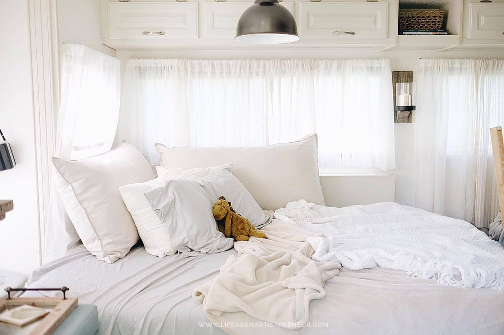 Luxurious RV bedding